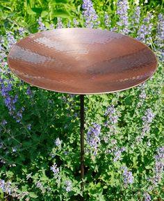 Burnt Copper Birdbath with stand | Achla