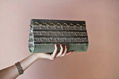 Art Deco series / Arch design - Handwoven Clutch bag