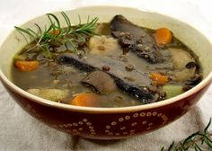 Love lentils, but I'm not a vegan and am allergic to mushrooms, so I plan to try this with meat instead of portabellas.
