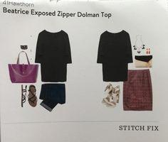 Stitch Fix November 2015 41Hawthorn Beatrice Exposed Zipper Dolman Top