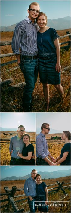 Tim & Marissa's fall mountain Engagement Session in Bozeman Montana. Sagebrush Studio Photography. Shelby, Montana.