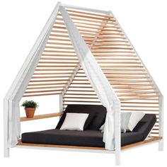 Cottage Outdoor Pavilion with Daybed by Patricia Urquiola for Kettal Patricia Urquiola, Outdoor Pavilion, Outdoor Lounge, Outdoor Daybed, Design Hotel, Patio Vintage, Garden Furniture Sale, Furniture Stores, Outdoor Wicker Furniture