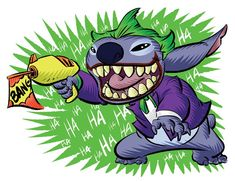 Lilo Stitch, Lelo And Stitch, Joker Cartoon, Walt Disney, Stitch Tattoo, Stitch Drawing, Images Disney, Cute Disney Drawings, Joker Art