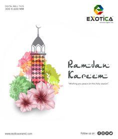 Live your life like every day is Ramadan and the akhirah will become your eid. Hd Design, Ramadan Mubarak, Digital Wall, Alhamdulillah, Eid, Wall Tiles, Holi, Allah, Interior Decorating