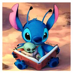 Stitch and Baby Yoda! The cuteness is strong with these ones 💙💚 Funny Phone Wallpaper, Disney Phone Wallpaper, Star Wars Wallpaper, Phone Wallpapers, Yoda Pictures, Yoda Images, Cute Stitch, Lilo And Stitch, Cute Disney Drawings