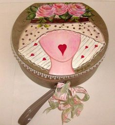 Vintage Hat Box (Train Case) * Handpainted Roses * Very Girly! | eBay