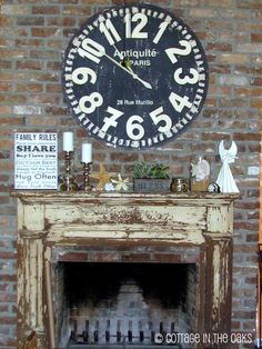 Love the mantle and clock