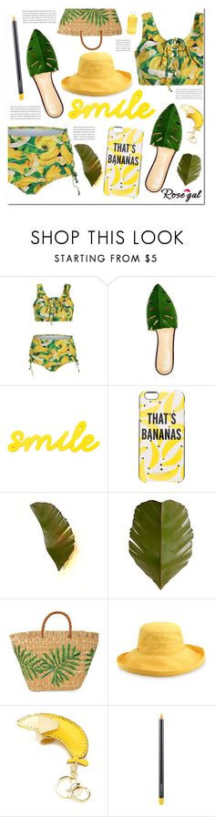 """ROSEGAL- Show us how to style Rosegal bikini (1 winner will win $20 cash)"" by pankh ❤ liked on Polyvore featuring Charlotte Olympia, Kate Spade, Varaluz, Aranáz, Dorfman Pacific, Forever 21, MAC Cosmetics and Aveda"