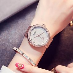 8f278abdba1 GUOU Fashion Blue Dial Watches Women Bracelet Watch Gold Luxury Rhinestone  Big Case Watch Casual Female Clock relogio feminino