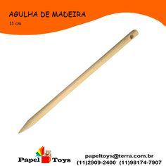 agulha de madeira