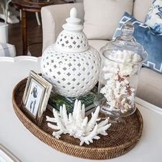 Hamptons Style has the largest range of hamptons style furniture in Australia. Die Hamptons, Hamptons Style Decor, Coffee Table Styling, Decorating Coffee Tables, Tray Decor, Decoration Table, Coastal Style, Coastal Decor, Nautical Home
