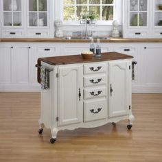 Beamont Drop-leaf Rolling Kitchen Cart With Towel Rack (white Oak)