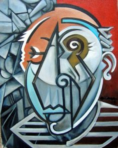 picasso paintings | Picasso Bust Painting by Martel Chapman - Picasso Bust Fine Art Prints ...