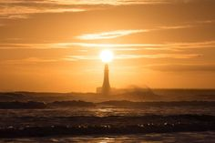 Sunderland, UK:   Sunrise at Roker Pier on Jan. 2.