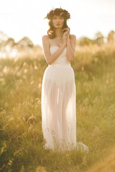 2 piece wedding gown - Boho Bridal Tulle Maxi Skirt and Body suit {Bambi + Lola} by CandiceLeeBridal