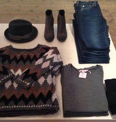 Unique chevron sweater + denim #CalypsoStyle