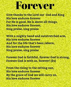 Worship Songs, Give Thanks, Singing, Lord, Thankful, Good Things