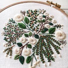 White floral pattern ❄️