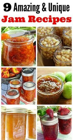 It's Sewn: 9 Amazing And Unique Jam Recipes – Kolay yemek Tarifleri Home Canning Recipes, Canning Tips, Cooking Recipes, Homemade Jelly, Canned Food Storage, Freezer Jam, Jam And Jelly, Jelly Recipes, Vegetable Drinks