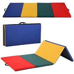 BestMassage Gymnastics Mat Gym Mat Tumbling Mat 4 Pannel Foldding Gymnastic Tumbling Mat Thick Fitness Yoga Exercise Mat Lightweight Home Gym Mat Carrying Handles * Click image for more details. (This is an affiliate link) Gymnastics Mats For Home, Gymnastics Equipment, Kids Gymnastics, Gymnastics Training, Gym Workouts, At Home Workouts, Thick Exercise Mat, Indoor Slides, Indoor Gym
