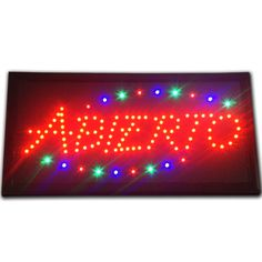 "Bright Animated LED Abierto Spanish Open Store Shop Sign 19x10"" Display neon  #AhhaProducts"