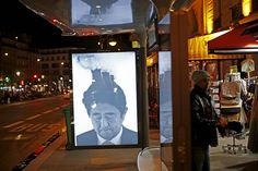 Japan's prime minister Shinzō Abe by Bill Posters (The Guardian, 2015)  http://www.theguardian.com/artanddesign/gallery/2015/nov/30/anti-advertising-the-hijacked-bus-stops-of-paris-brandalism-climate-change-in-pictures