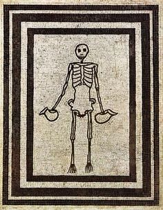 Skeleton of a cup-bearer ~ Roman mosaic from Pompeii, 2nd c. BC