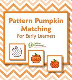 Pattern Pumpkin Matching Free Printable