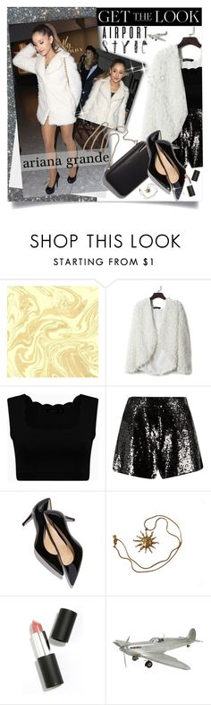 """""""Ariana Grande; Airport Style"""" by charli-oakeby ❤ liked on Polyvore featuring Clare V., Anne Klein, Sigma Beauty, Authentic Models, GetTheLook, contest, contestentry and airportstyle"""