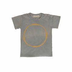 Pepe&Nika PepeandNika Omibia Little Apparel T-Shirt Circle grey gold organic bio cotton print