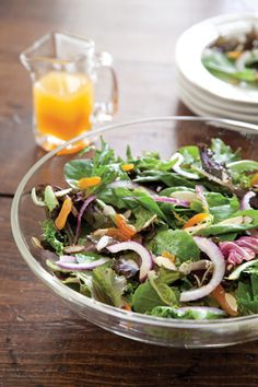 Spring Mix Salad with White Balsamic-Apricot Vinaigrette - The Cottage Journal