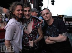 Eddie Vedder (Pearl Jam) and Perry Farrell (Jane's Addiction) and some random dude. lol!