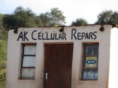 AK ??  Rural South African Cell Repairs.Sign Writer did not have spell check