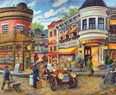 Dorothy's Busy Intersection 1000 Piece Jigsaw Puzzle SunsOut USA Joseph Burgess #SunsOut #Puzzle