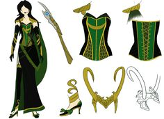 Lady Loki Cosplay Reference by ~twixel on deviantART