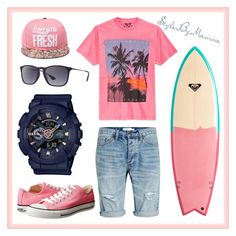 """""""Surfs up"""" by mauricee-brewer on Polyvore featuring Quiksilver, Univibe, Topman, Converse, G-Shock, Ray-Ban, men's fashion and menswear"""