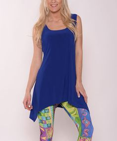 Another great find on #zulily! Royal Blue Sidetail Sleeveless Tunic - Women #zulilyfinds