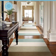 wide striped rug