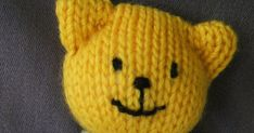 Ready Teddy in a square wool x needles x 5 colours Square is knitted in garter stitch except for head which i. Knitting Dolls Free Patterns, Knitted Dolls Free, Teddy Bear Knitting Pattern, Knitted Owl, Beginner Knitting Patterns, Knitting Paterns, Knitted Teddy Bear, Knitted Animals, Knitting Projects