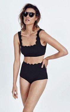 Marysia black high-waisted bikini