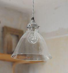 blown glass cone light - lighting