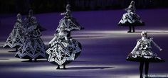 Lace Making: Dancers perform at the Lace Making segment of the Closing Ceremony of the Rio 2016 Olympic Games at Maracana Stadium on Aug. 21, 2016 in Rio de Janeiro.