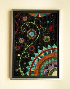 Night magic and dreams mosaic art by CalliopeMosaics on Etsy