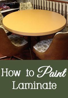If you have ugly laminate (also called Formica) countertops, flooring, furniture, or cabinets, you can paint these items to give them a new look.  Follow the steps below for how to paint laminate.   DisassembleIf your laminate furnitu...