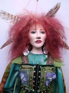 Fairy Queen GREEN LADY Fairy Queen, Art Dolls, Fairies, Disney Princess, Disney Characters, Lady, Green, Faeries, Fairy