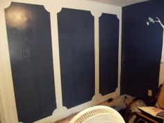 Momma Hen's Frugal Life: faux paneled walls for my baby girls nursery