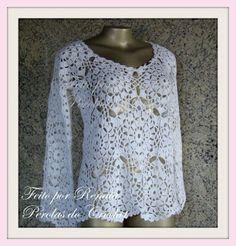 * Pérolas do Crochet: PAP casaco ou regatinha em crochet