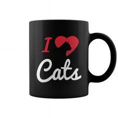 Mug I Love Cats Grandpa Grandma Dad Mom Girl Boy Guy Lady Men Women Man Woman Pet Cat Meow Lover