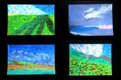 Landscapes inspired by Impressionist works Lessons & Videos available thru this page