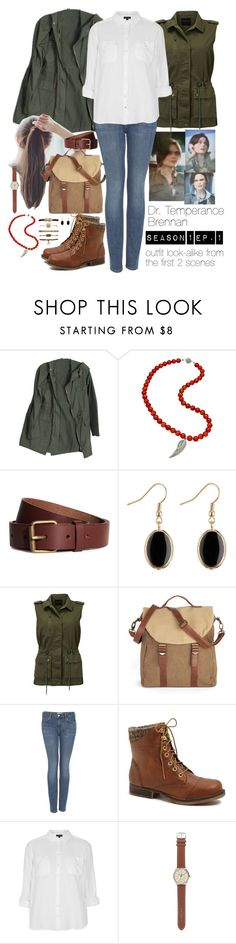 """Season 1 - Ep. 1 (Bones, Temperance Brennan Inspired)"" by heartles ❤ liked on Polyvore featuring Krystal Sasso, H&M, Modström, Topshop, Steve Madden and J.Crew"
